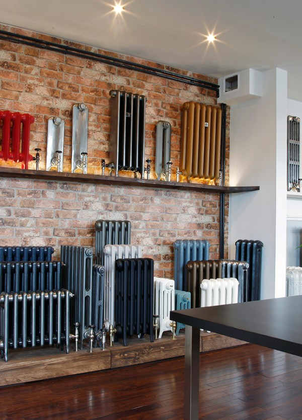 Castrads cast iron radiators showroom in Manchester.