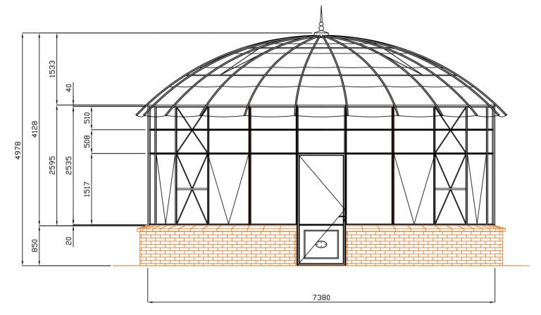 Circular greenhouse
