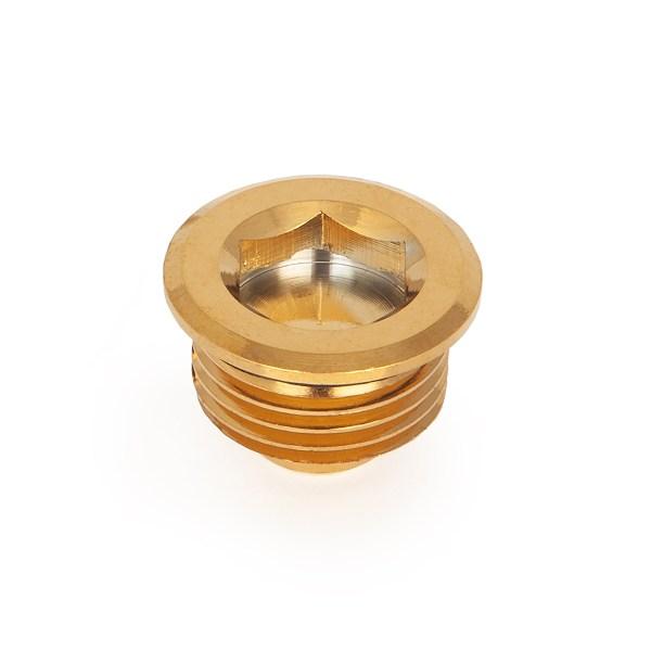 Half inch brass plug for radiators