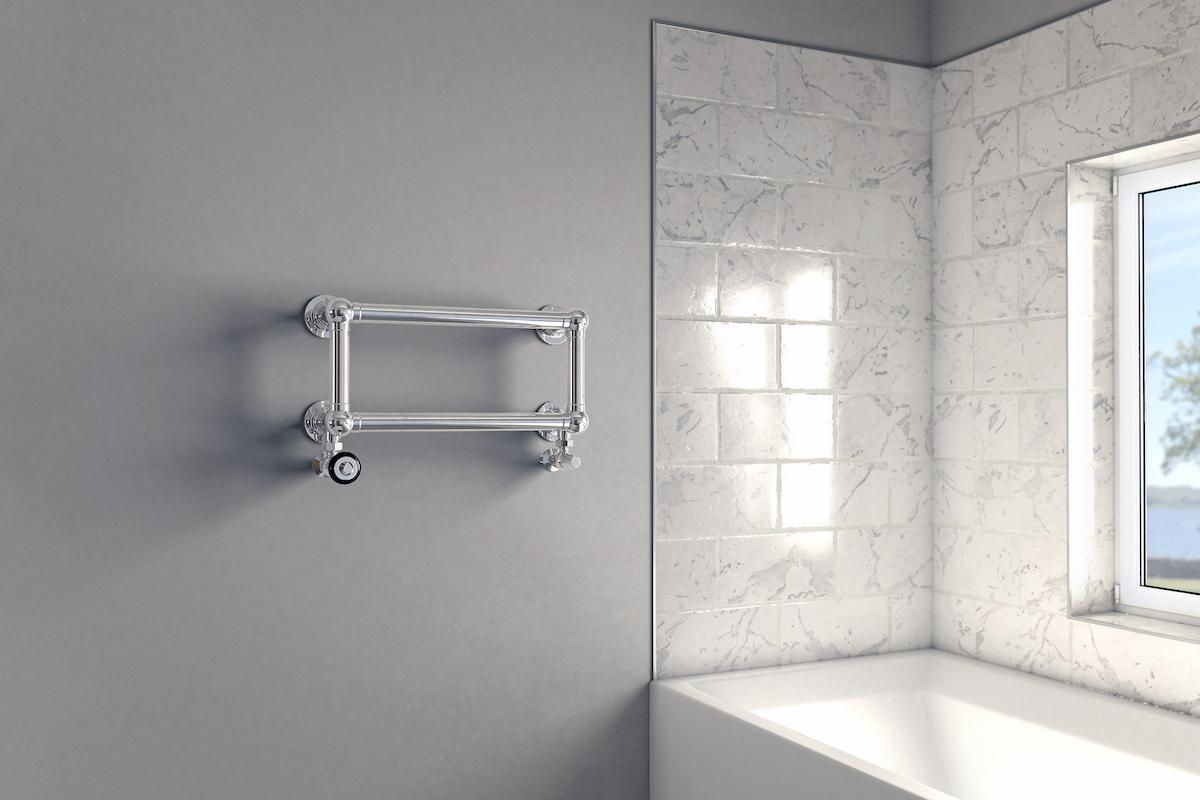Elara 2 bathroom towel warmer in Chrome