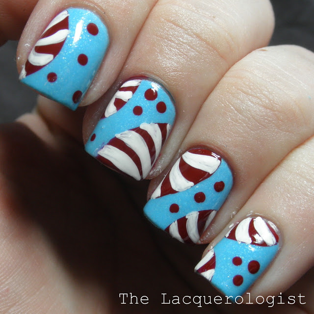 Peppermint Nail Art Casual Contrast