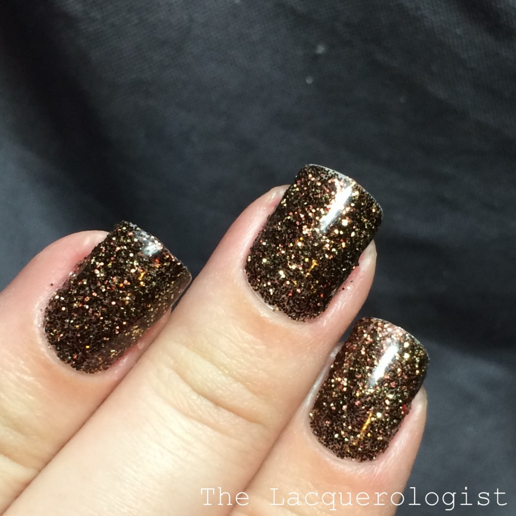 Glitter Gels in Tiger\'s Eye...and HAPPY THANKSGIVING! • Casual Contrast
