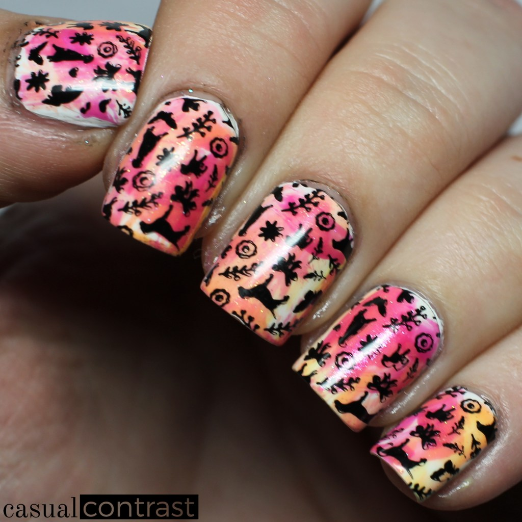 Whimsical dog nail art featuring uberchic beauty furry best whimsical dog manicure featuring uberchic beauty furry best friends stamping plate casual contrast prinsesfo Image collections