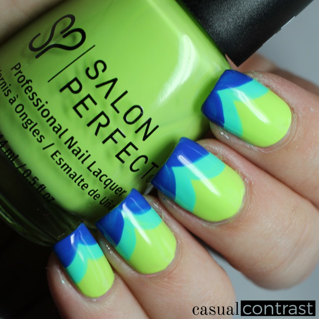 Neon Tips featuring Salon Perfect Neon POP! Shades • Casual Contrast