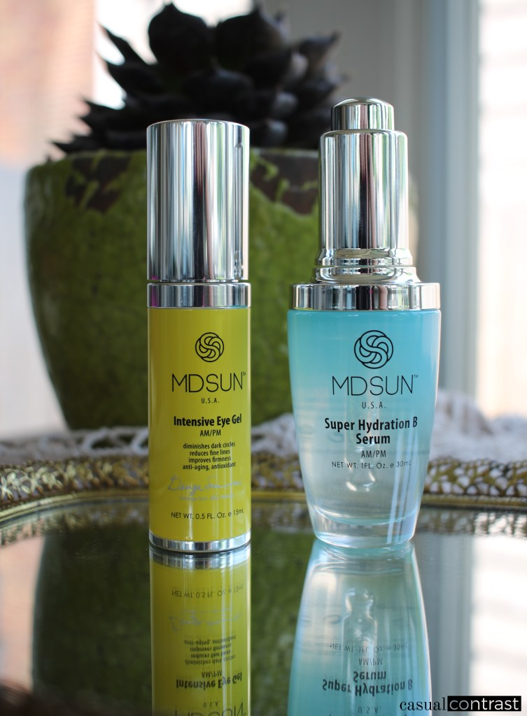 MDSUN Super Hydration B Serum & Intensive Eye Gel: Review & Giveaway • Casual Contrast