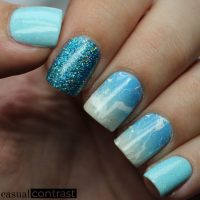Beach Nail Art!  Casual Contrast