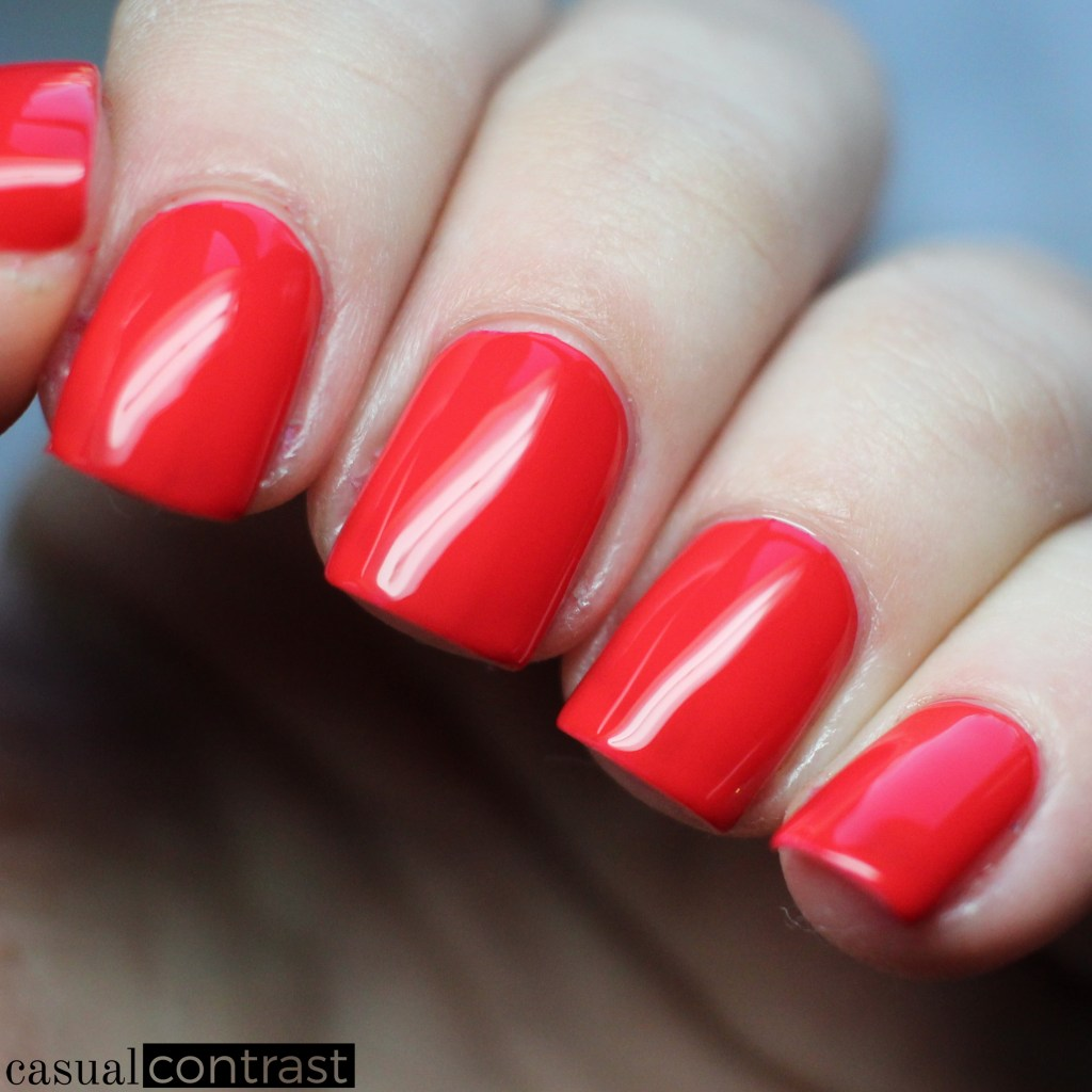 Sally Hansen Miracle Gel Red Eye from the Festival Floral Collection: Swatches & Review • Casual Contrast