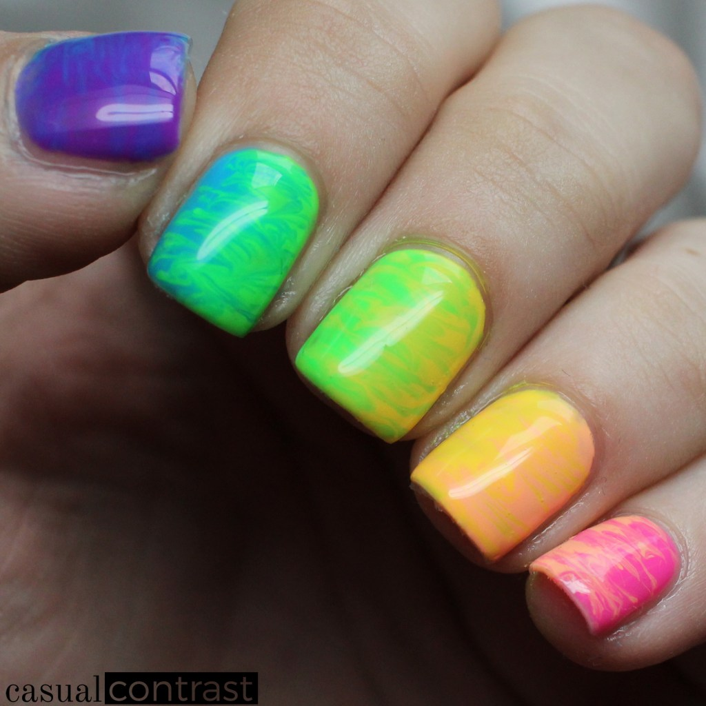 LeChat Perfect Match Summer 2017 Retro Remix Collection: Rainbow Nail Art •Casual Contrast
