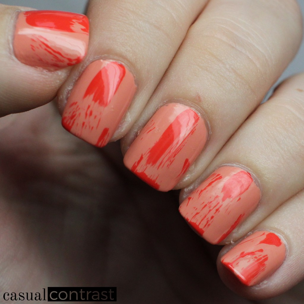 Dry Brush Nail Art Manicure with OPI California Dreaming Collection • Casual Contrast