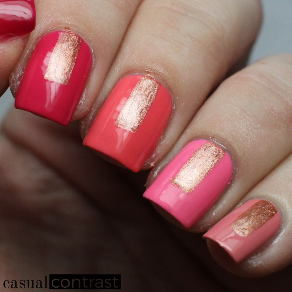 Graphic Summer Ombre Nail Art Manicure featuring OPI California Dreaming • Casual Contrast