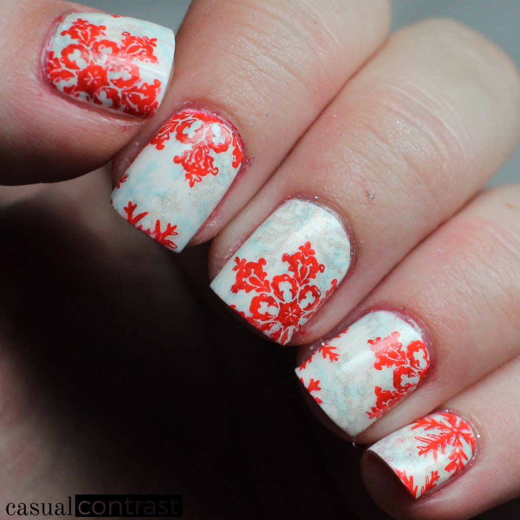 Snowflake Triple Stamping • Casual Contrast