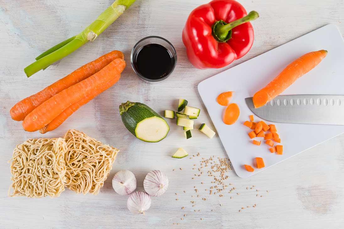 Mie Nudeln und Zutaten casual cooking österreichischer food blog