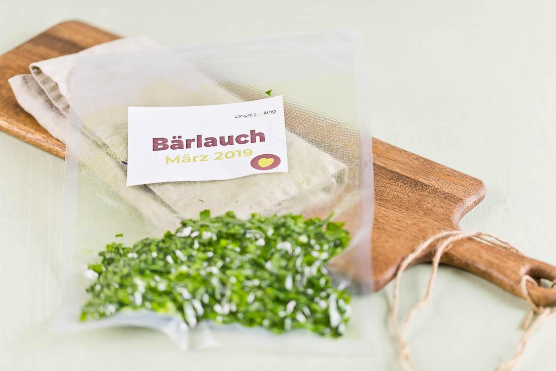 Bärlauch einfrieren Wild Gralic Salt casual cooking österreichischer food blog