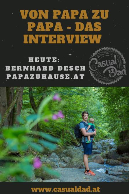 Papablogger Bernhard von papazuhause.at ist heute mein Interviewpartner.