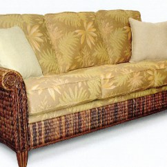Replacement Cushions For Sleeper Sofa Alessia Pearl Wicker Sofas/sleepers