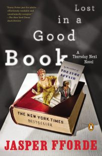 Lost in Good Book by Jasper Fforde; design by Jaya Miceli