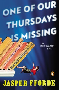 One of Our Thursdays is Missing by Jasper Fforde; design by Jaya Miceli