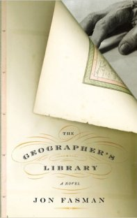 The Geographer's Library by Jon Fasman; design by Gabriele Wilson (Penguin, February 2005)