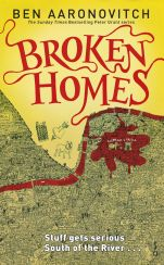 Broken Homes by Ben Aaronovitch; design by Patrick Knowles / cover illustration by Stephen Walter (Gollancz / July 2013)