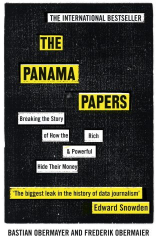 The Panama Papers by Bastian Obermayer and Frederik Obermaier; design by James Paul Jones (Oneworld / June 2016)