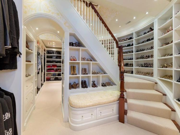 Stairs in Closet