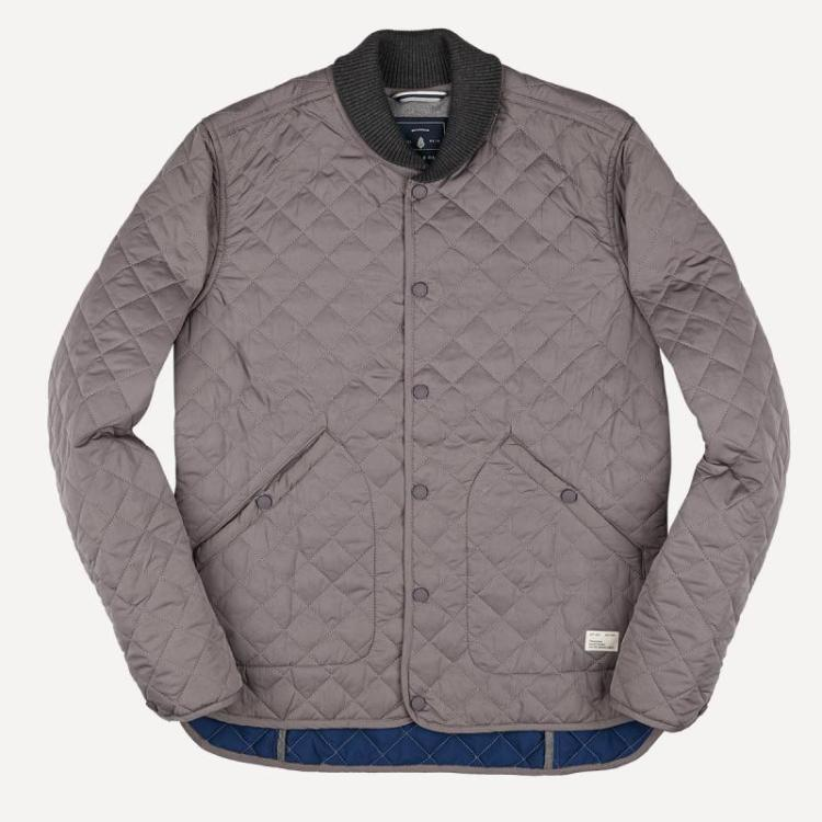 Quilted Hunting Jacket in Stone - Frank and Oak