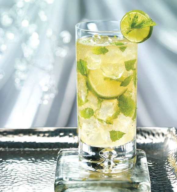 Warm Weather Cocktails Inspired by Fairmont Royal Pavilion - Golden Mojito