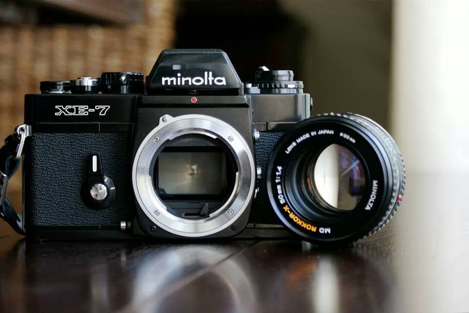 Minolta XE-7 Rokkor 50mm 1.4