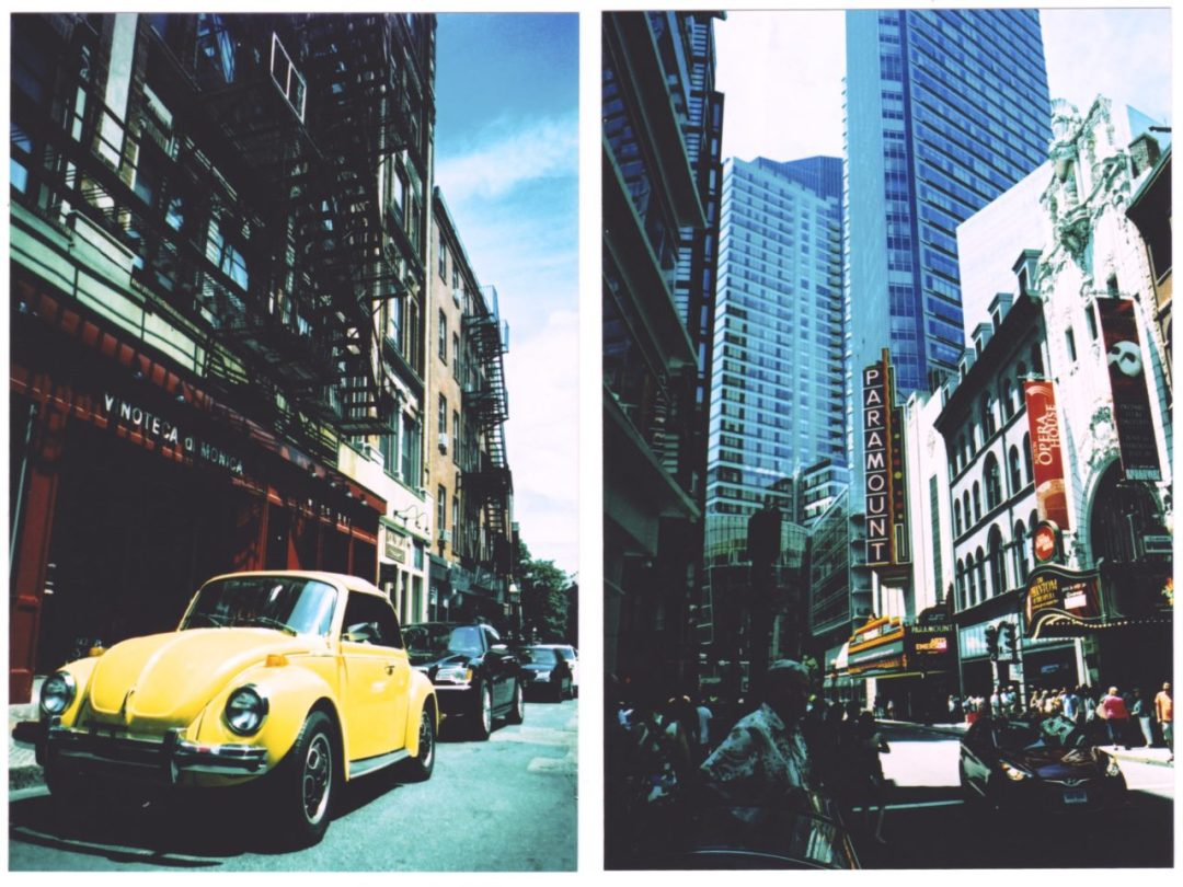 These shots were taken on slide film and cross-processed.