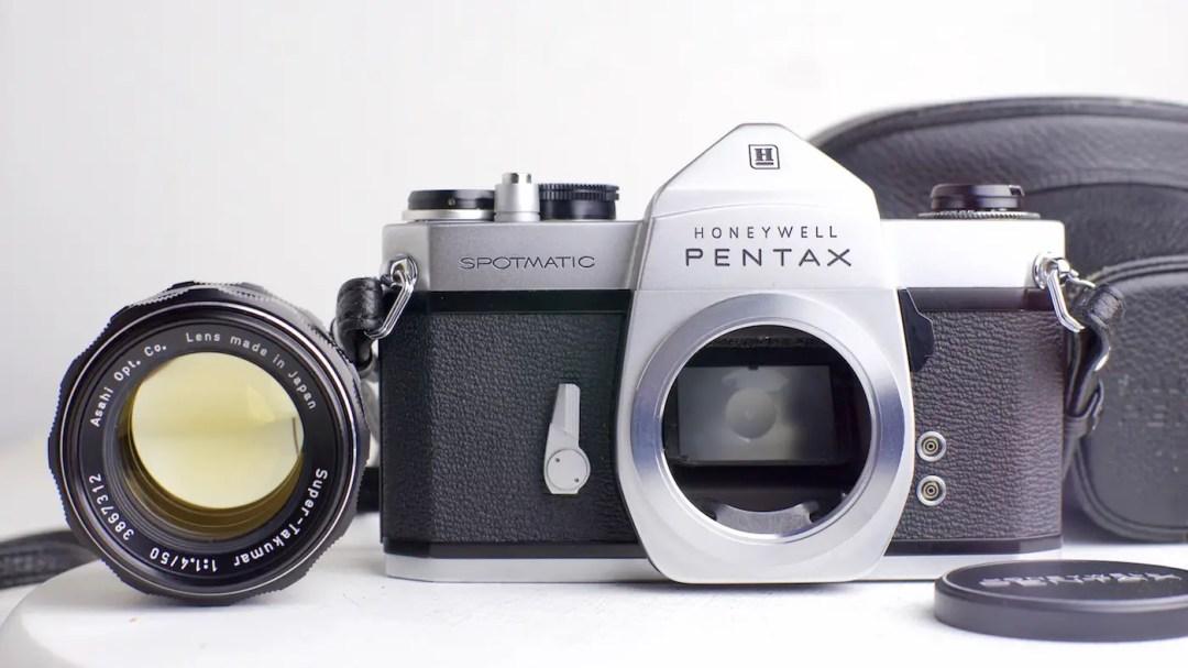 pentax spotmatic with 50mm 1.4 takumar
