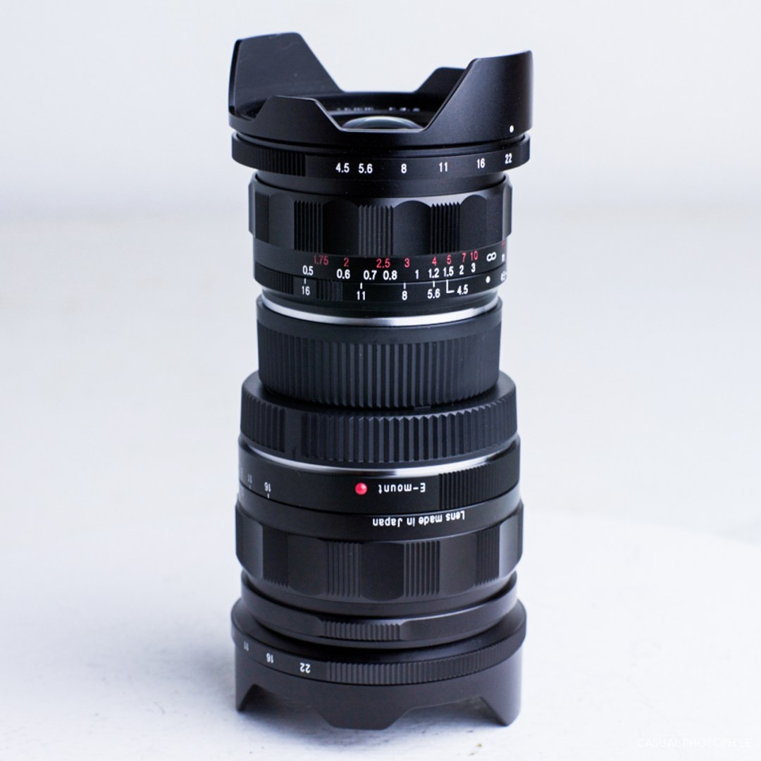 voigtlander 15mm F-4.5 Heliar lens review stack