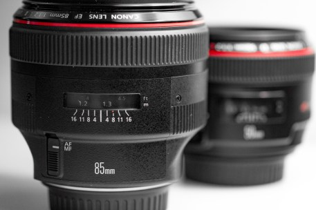 Canon 50mm 85mm f-1.2 lens product shots-3