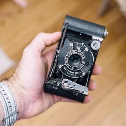 A later model B Vest Pocket Kodak with Autographic Stylus.