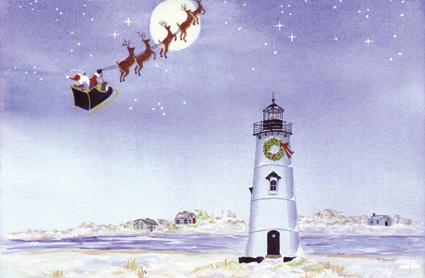 Edgartown Lighthouse Christmas Card May The Spirit Of