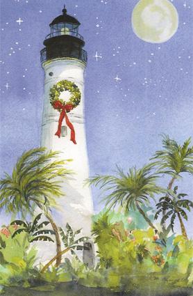 Key West Lighthouse Christmas Card