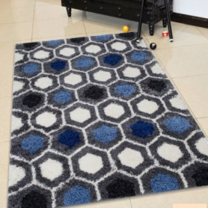 Deluxe-PW Honey comb Anthracite rug 1