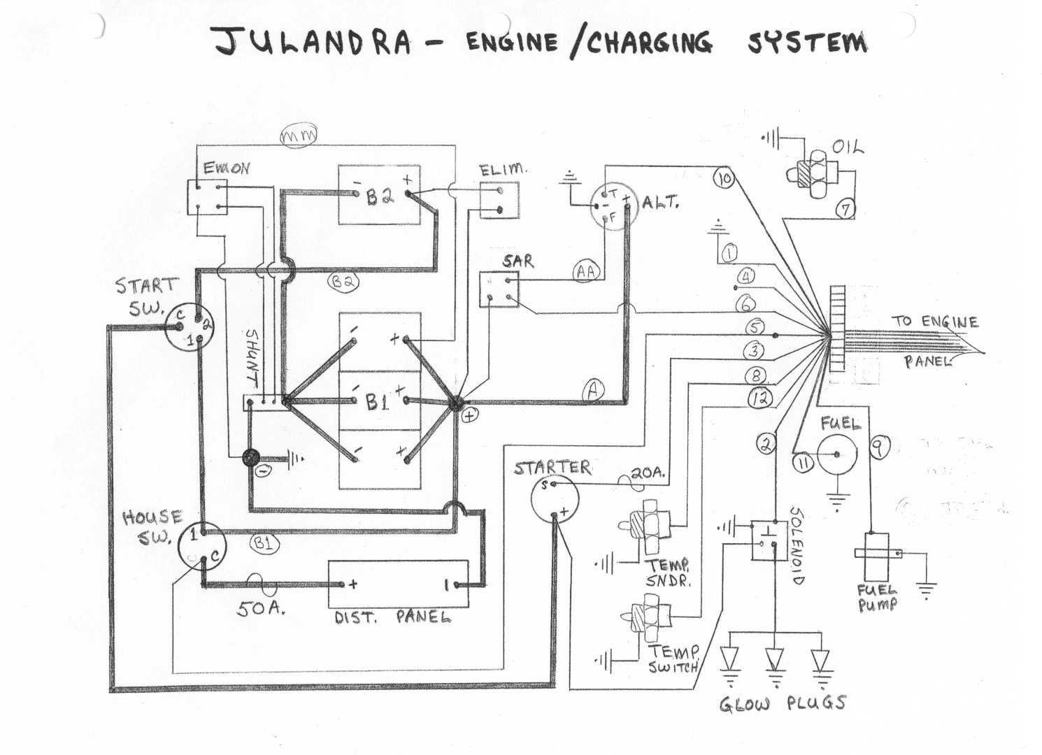Catalina 25 12 Volt Wiring Diagram
