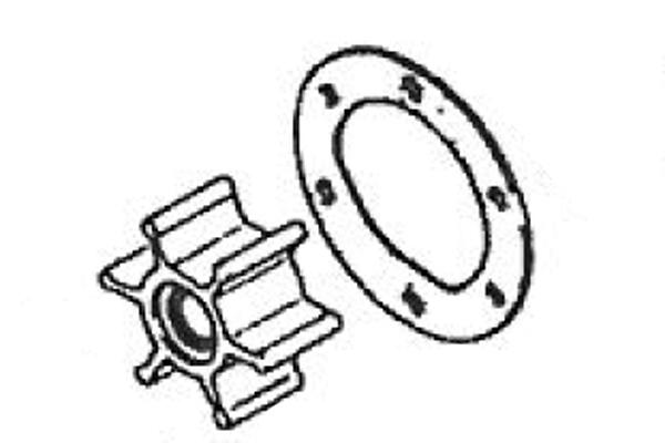 Water Pump Impeller Kit2GM & 3GM Yanmar Engines, Pump w