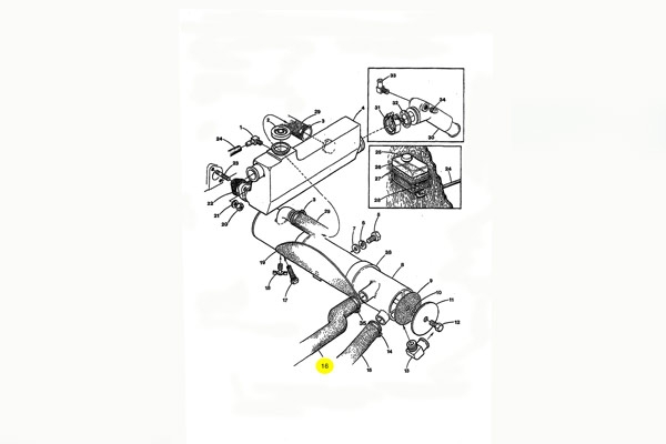 Engine Coolant Hose, Heat Exchanger to Pump, Molded M-25XPB