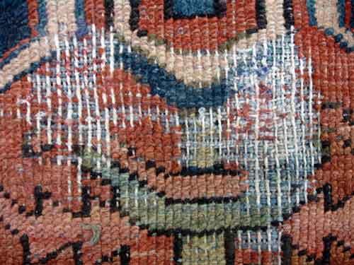 Oriental rug repair Guide Before  after