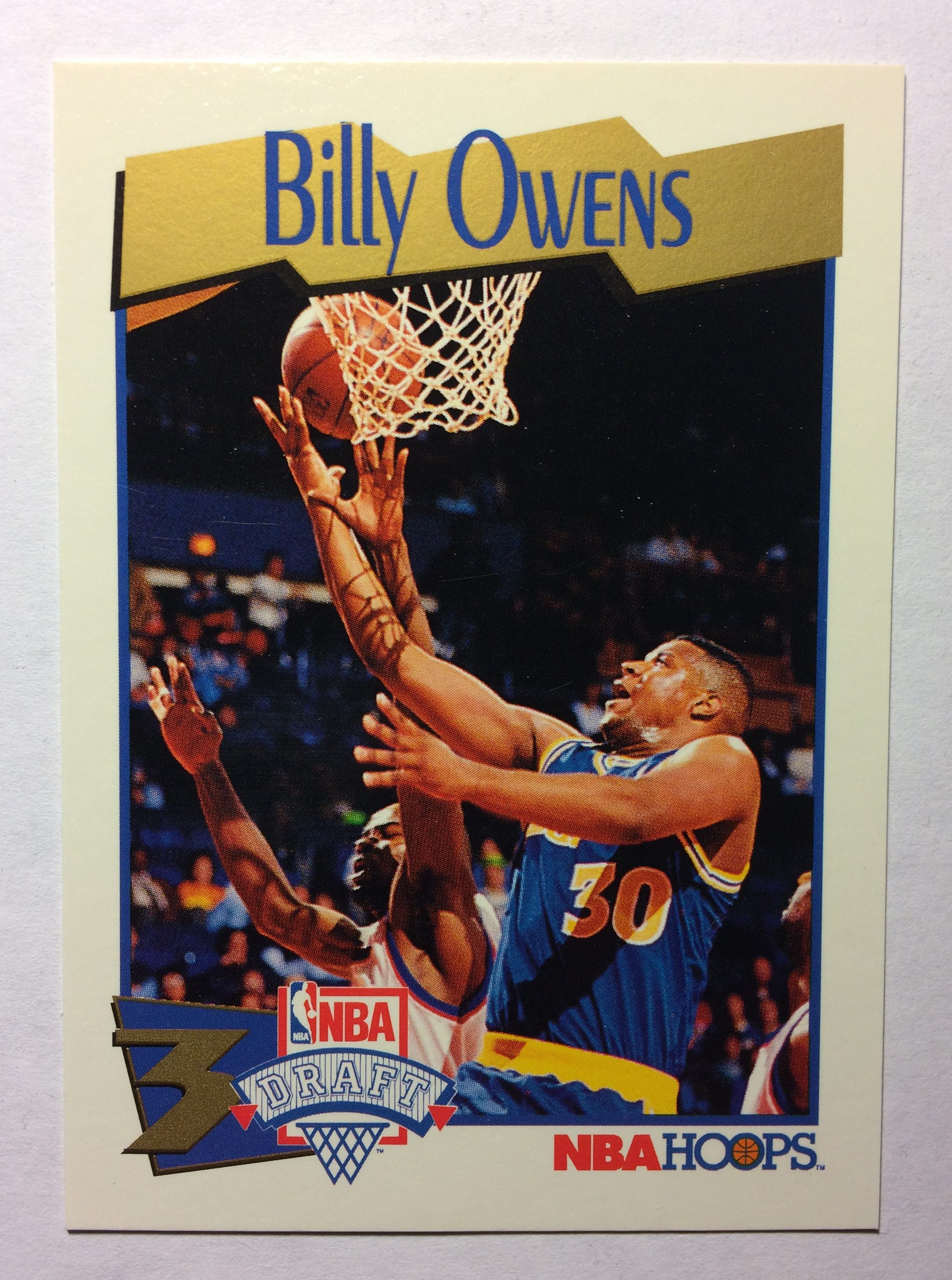 1991 92 Hoops 548 Billy Owens NBA Draft Rookie