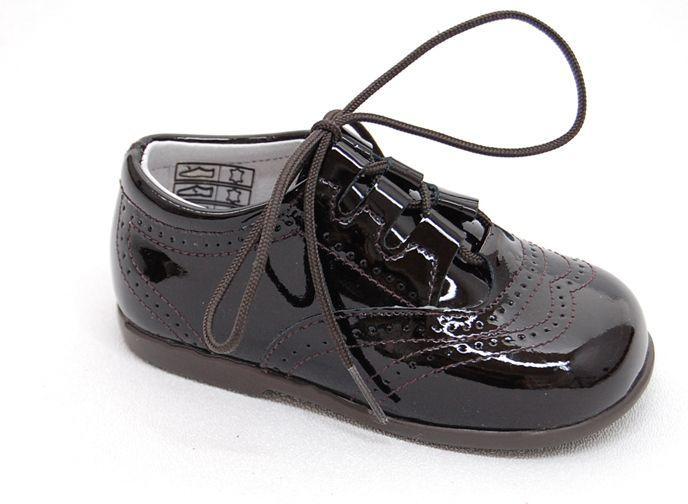 Foto Zapato ingles de nio charol beigecamel foto 774689