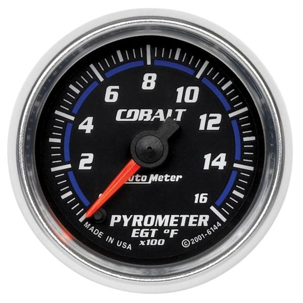 Autometer 6144 Cobalt Electric Pyrometer Gauge Kit 2 1 16