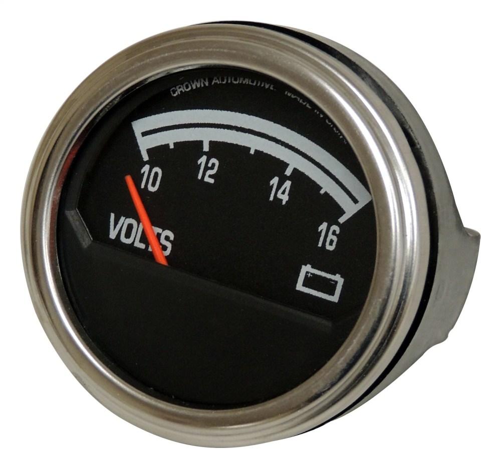 medium resolution of sentinel crown automotive j8126659 voltmeter fits 76 86 cj5 cj7 scrambler