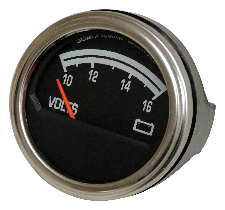 hight resolution of sentinel crown automotive j8126659 voltmeter fits 76 86 cj5 cj7 scrambler