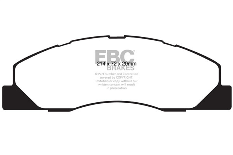 EBC Brakes DP61847 EBC 6000 Series Greenstuff Truck/SUV