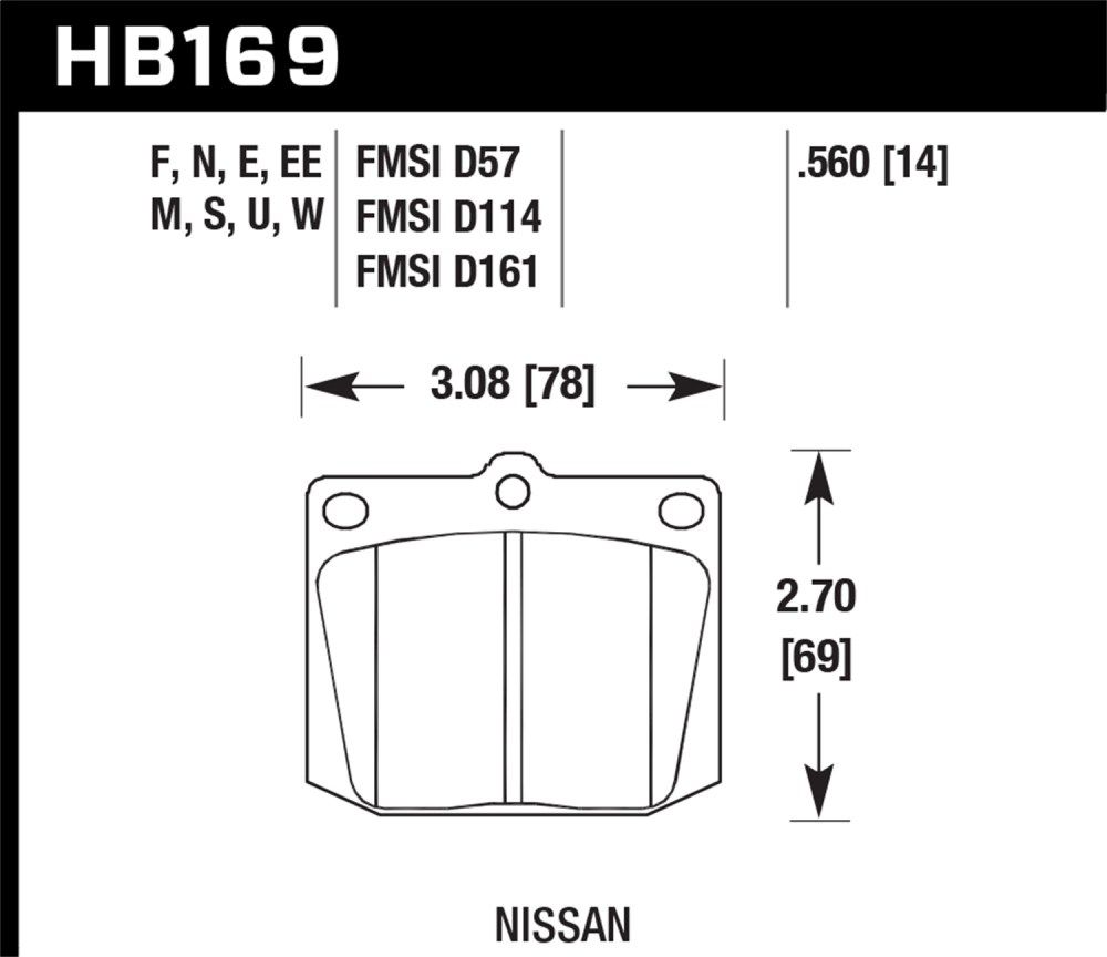 medium resolution of image is loading hawk performance hb169n 560 disc brake pad