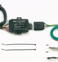 hopkins towing solution 43855 plug in simple vehicle to trailer wiring harness [ 1500 x 892 Pixel ]