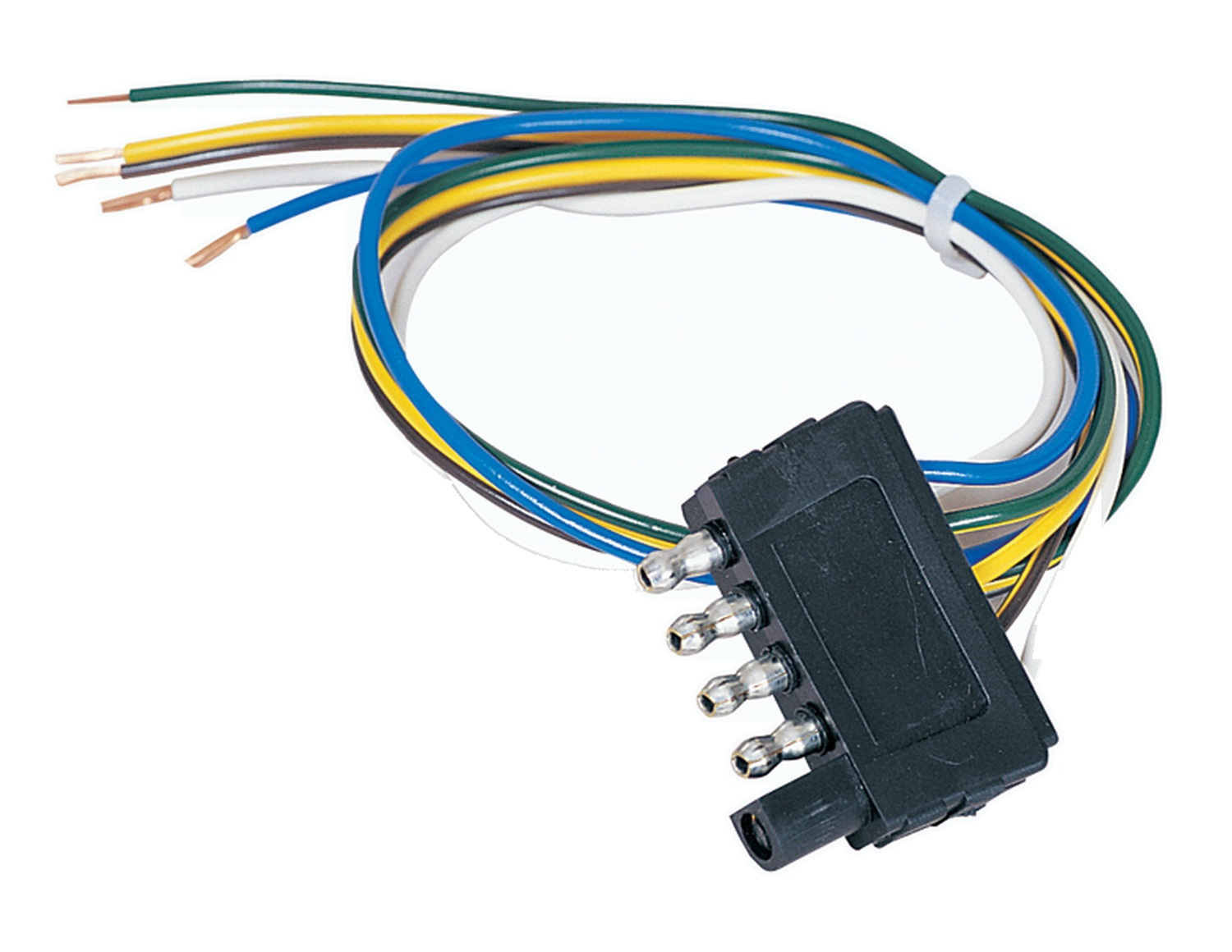 Flat Trailer Wiring Diagram On 4 Wire Wiring Harness Connector Plugs