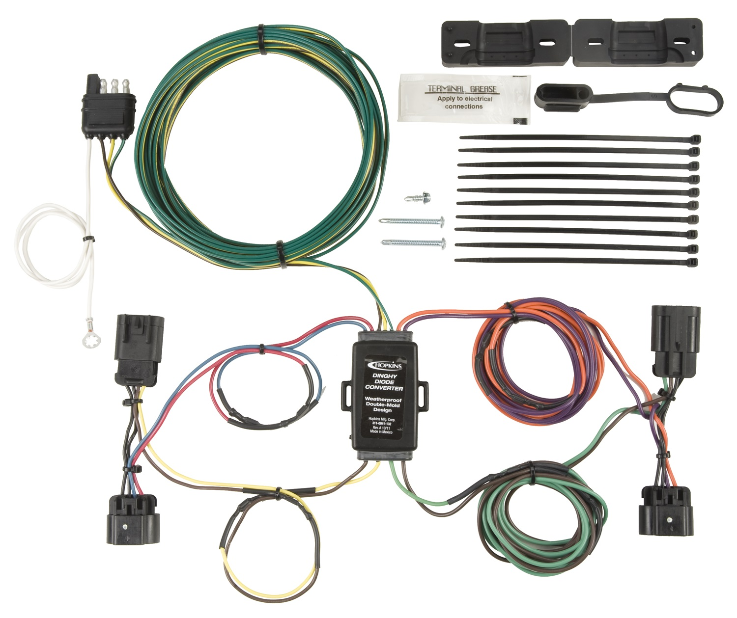 hight resolution of details about hopkins towing solution 56108 plug in simple vehicle to trailer wiring harness